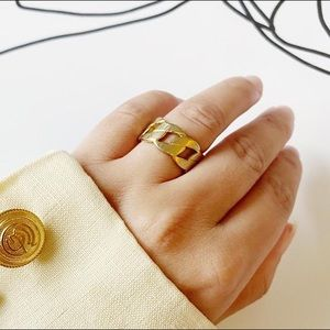 Vintage Gold Ring Chain
